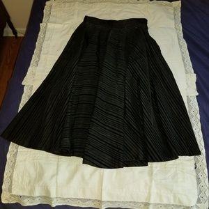 50s vintage homemade circle skirt flocked stripes